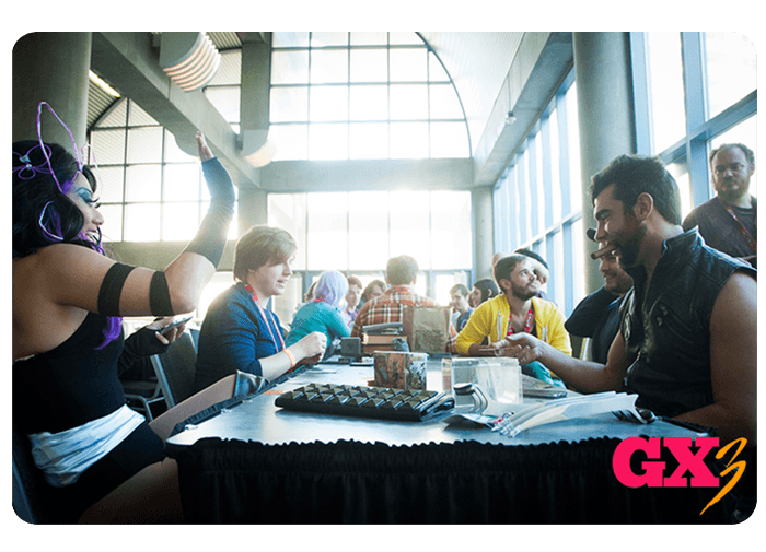 People playing tabletop games