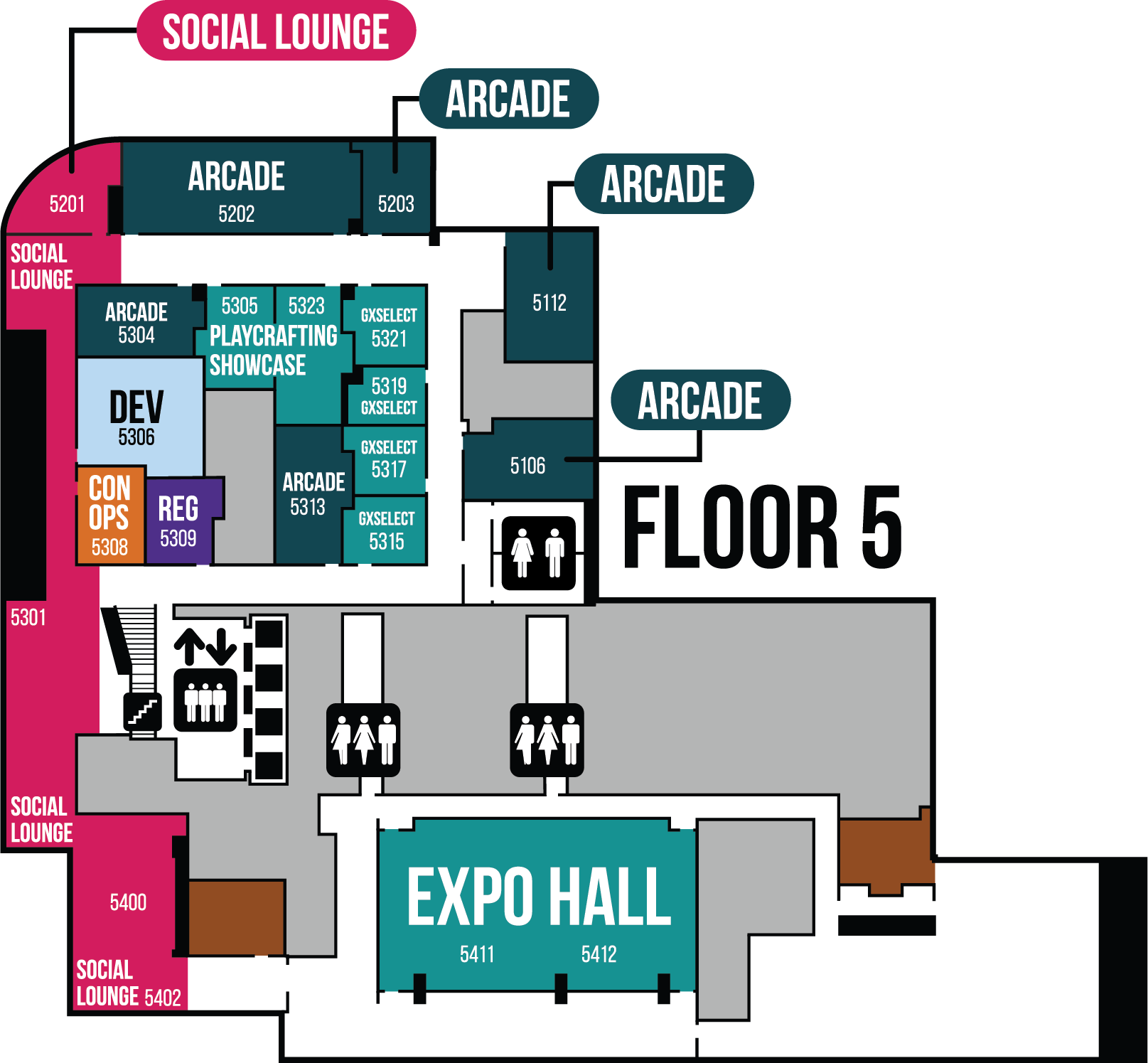 GaymerX East Map Floor 5